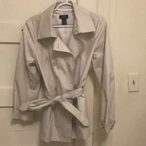 Brooks Brothers Classic tan short trench coat